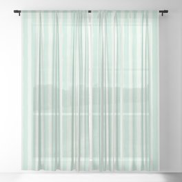 Streaky Hand-Brushed Aqua Bluebell Vertical Stripes Sheer Curtain