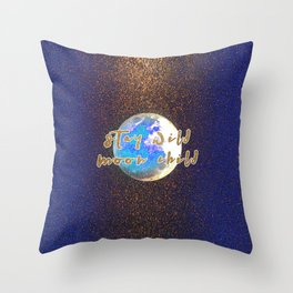 Stay Wild Moon Child Glitter Moon Throw Pillow