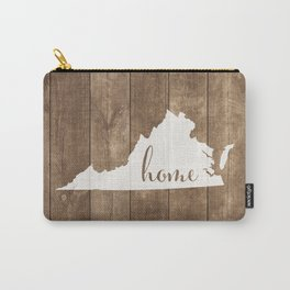 Virginia is Home - White on Wood Carry-All Pouch