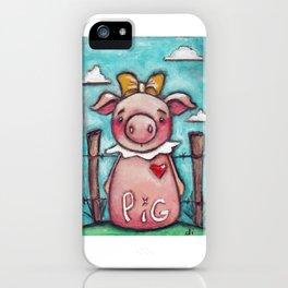 PIG - by Diane Duda iPhone Case