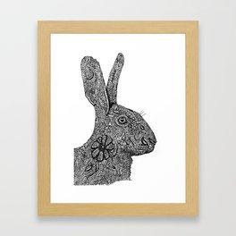 Hare Zentangle Framed Art Print