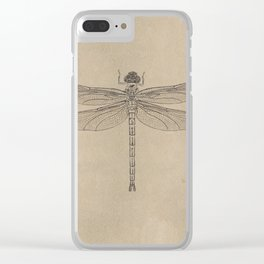 Dragonfly Fossil Dos Clear iPhone Case