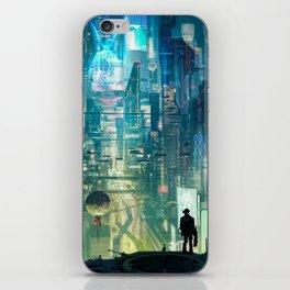 Cyberpunk City iPhone Skin
