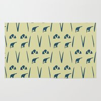 army Area & Throw Rugs featuring Penguin Army by Sarah Jane Jackson