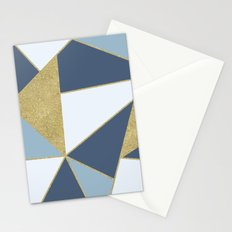 Abstract Blue and Gold Stationery Cards
