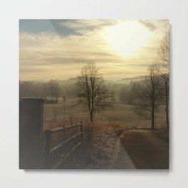 Misty Valley Metal Print