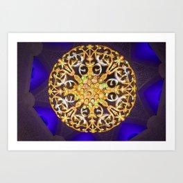 abu dhabi's grand mosque Art Print