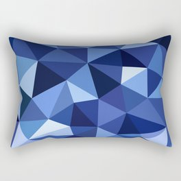Deep Sea Crystal Low Poly Rectangular Pillow