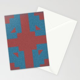 Blue & Red Noises Stationery Cards