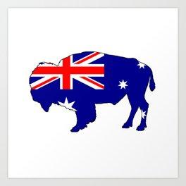 Australian Flag - Bison Art Print