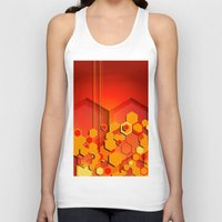 hexagon Tank Tops featuring Hexagon Layers by Robin Curtiss