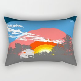 Floria Key Biscayne Beach Rectangular Pillow