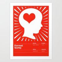 forrest gump Art Prints featuring Forrest Gump by Maciej Zelaznowski