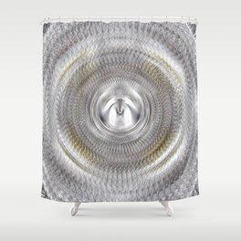 Silver Metallic Shiny Surface Shower Curtain