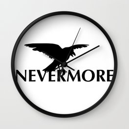 Nevermore - The Raven Wall Clock