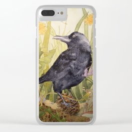 Canuck the Crow Clear iPhone Case