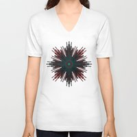 cyberpunk V-neck T-shirts featuring Nucleotid by Obvious Warrior