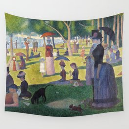 A Sunday on La Grande Jatte by Georges Seurat, 1884 Wall Tapestry