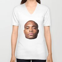 wes anderson V-neck T-shirts featuring Anderson Silva Vector by QUAPEX