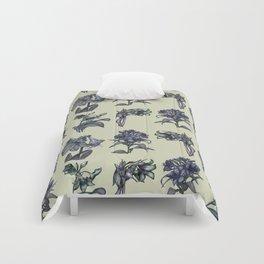 Botanical Florals | Vintage Dark Blue Comforters