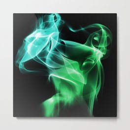 Smoke Green & blue Metal Print