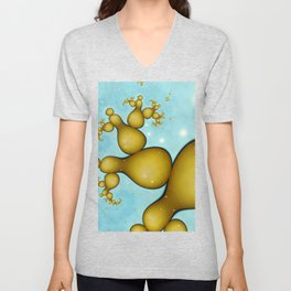 Yellow Snowmen Unisex V-Neck