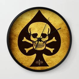 Death Card - Ace Of Spades Wall Clock