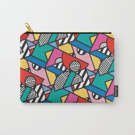 Colorful Memphis Modern Geometric Shapes Carry-All Pouch