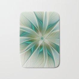 Floral Lights, Abstract Fractal Art Bath Mat