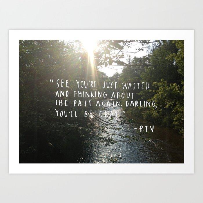 Hold On Til May - Pierce the Veil (River) Art Print