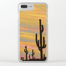 Easter Sunrise Clear iPhone Case