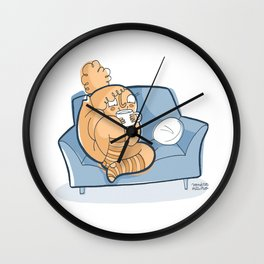 A Cup of Tea Solves Everything Wall Clock