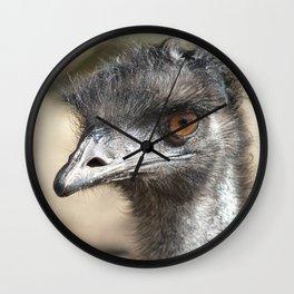 Inquisitive Emu Wall Clock