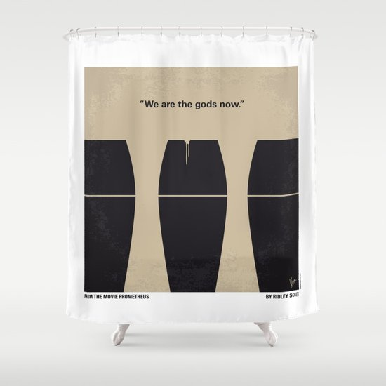 No157 My Prometheus minimal movie poster Shower Curtain