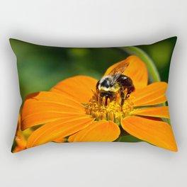 Bumblebee Hard At Work Rectangular Pillow