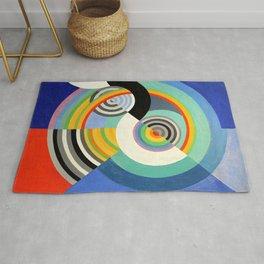 Robert Delaunay - Rythme no 3 - Rhythm no 3 - Abstract Colorful Art Rug