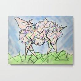 Cubist Sheep Metal Print