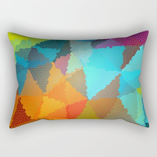 Stained Glass  Rectangular Pillow