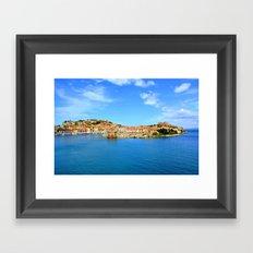 Elba Island, Portoferraio Framed Art Print