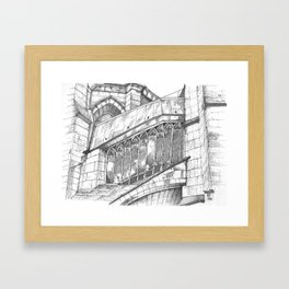 Chartres Cathedral Framed Art Print