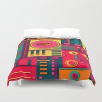 sunrise Duvet Covers featuring Sunrise by Shelly Bremmer