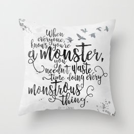 Six of Crows - Monster - White Throw Pillow
