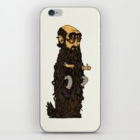 beard iPhone & iPod Skins featuring Beard by George Azmy