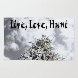 LIVE, LOVE, HUNT Rug