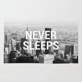 Never Sleeps Rug