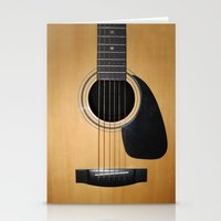 guitar Stationery Cards featuring Guitar by Nicklas Gustafsson