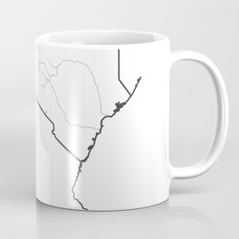 East Africa Map - Rivers Coffee Mug