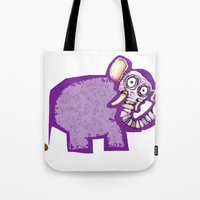 poop Tote Bags featuring Elephant poop by Jamie Clayton