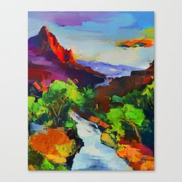 ZION - The Watchman and the Virgin River Canvas Print