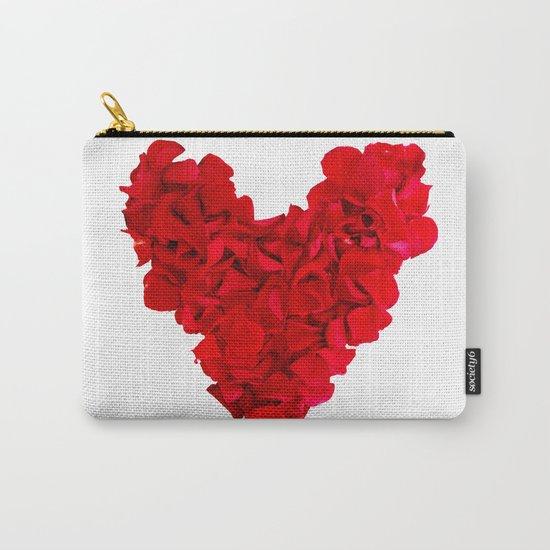 heart shape, rose petals Carry-All Pouch